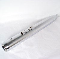 Milwaukee Twins Tapered Chrome Slip-on Mufflers with Chrome Tips