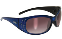 Global Vision Eyewear Marilyn 2 Blue Frame Smoke Lens Sunglasses