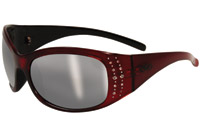 Global Vision Eyewear Marilyn 2 Red Frame Smoke Lens Sunglasses