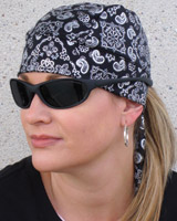 That's A Wrap Bandana Stretchwrap Foil Bandana Black