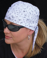 That's A Wrap Bandana Stretchwrap Foil Bandana White