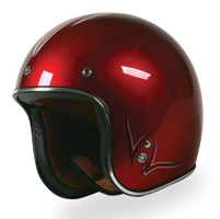 Torc Route 66 T-50 Pinstripe Candy Red Helmet