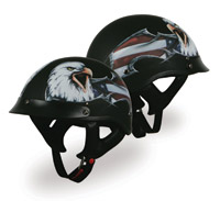 V-Can Sports T-53 Black Hills Eagle Gloss Black Helmet