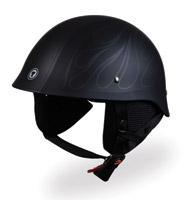 Torc T54 GI Half Night Flame Black Helmet