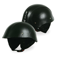 Torc T54 GI 1/2 Leather Star Black Helmet