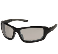 Chap'el Padded Black Frame Sunglasses with Clear Mirror Lens