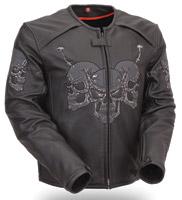 First Manufacturing Co. Men's Raceway Skull Jacket