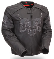 First Manufacturing Co. Men's Raceway Skull Jacket