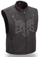 First Manufacturing Co. Men's Raceway Skull Vest