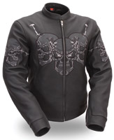 First Manufacturing Co. Ladies Raceway Skull Jacket
