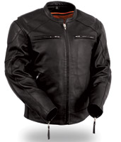 First Manufacturing Co. Men's Vented Leather Jacket with Conceal Carry Holsters