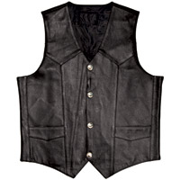 Raider Men′s Leather Buffalo Nickel Conceal Carry Vest