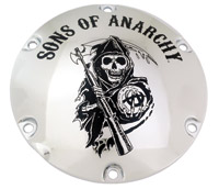 Custom Engraving Ltd. Sons of Anarchy Chrome Reaper Derby Cover