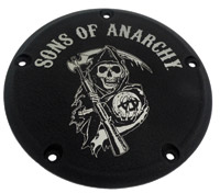 Custom Engraving Ltd. Sons of Anarchy Black Reaper Derby Cover