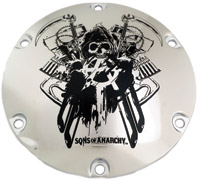 Custom Engraving Ltd. Sons of Anarchy Chrome Total Mayhem Derby Cover
