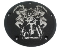 Custom Engraving Ltd. Sons of Anarchy Black Total Mayhem Derby Cover