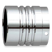 Rush 4″ Straight End with Center Tri-Groove Chrome Exhaust Tip