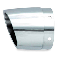 Rush 4″ Tapered with Angle Cut Chrome Exhaust Tip