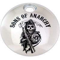 Custom Engraving Ltd. Sons of Anarchy Chrome Reaper Fuel Door