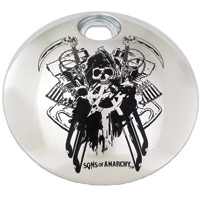 Custom Engraving Ltd. Sons of Anarchy Chrome Total Mayhem Fuel Door