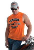 Easyriders Rocker Sleeveless Orange T-Shirt