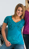 Easyriders Women′s Wild and Free T-Shirt Teal