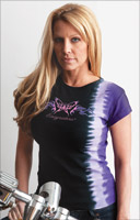 Easyriders Purple Tie-Dye Butterfly Short-Sleeve T-shirt