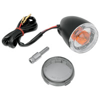 J&P Cycles® Gloss Black Front Turn Signal