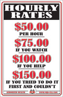 Hourly Rate Sign