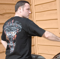 J&P Cycles® Flaming Backbone T-shirt