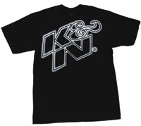 K&N Glow White on Black T-Shirt