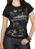 BikaChik Black Butterfly T-Shirt
