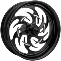 Xtreme Machine Reaper Black Cut Rear Wheel for ABS, 17