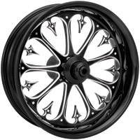 Xtreme Machine Stiletto Black Cut Front Wheel for ABS, 21