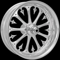 Xtreme Machine Stiletto Chrome Rear Wheel for ABS, 17