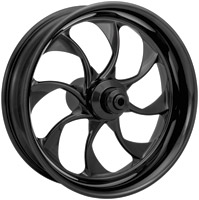 Xtreme Machine Turbo Black Anodized Front Wheel for ABS, 21
