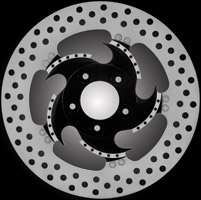 Xtreme Machine Challenger Black Cut Front Left Disc Brake Rotor