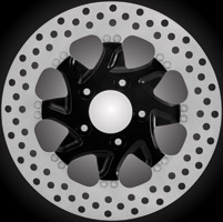 Xtreme Machine Turbo Black Front Left Disc Brake Rotor