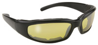 KD's Padded Rally Black Framed with Yellow Lens Sunglasses