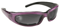 KD's Padded Rally Purple Framed with Gray Gradient Lens Sunglasses