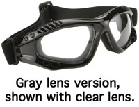 KD's Turbo Gray Lens Goggles