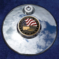 Motordog69 Medallion Fuel Door Cover Mount with September 11th Coin