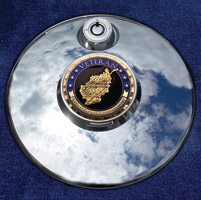Motordog69 Medallion Fuel Door Cover Mount with Enduring Freedom Coin