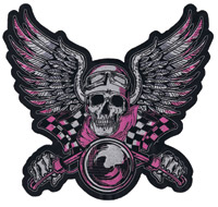 Lethal Threat Vintage Biker Pink 10″ x 11″ Patch