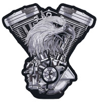 Lethal Threat Eagle V-Twin Engine 11″ x 11″ Patch