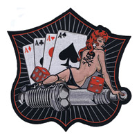 Lethal Threat Sparkplug Card Pinup 11″ x 11″ Patch