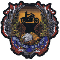 Lethal Threat American Built Biker 11″ x 11″ Patch
