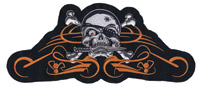 Lethal Threat Pirate Biker 2 5″ x 12″ Patch