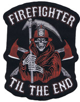 Lethal Threat Reaper Firefighter 6″ x 5″ Patch