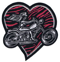 Lethal Threat Pink Heart Biker Mini Patch